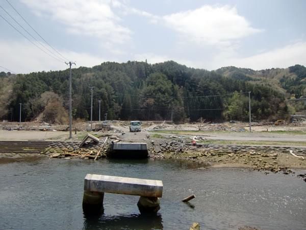 JR織笠駅と織笠橋(山田町織笠)