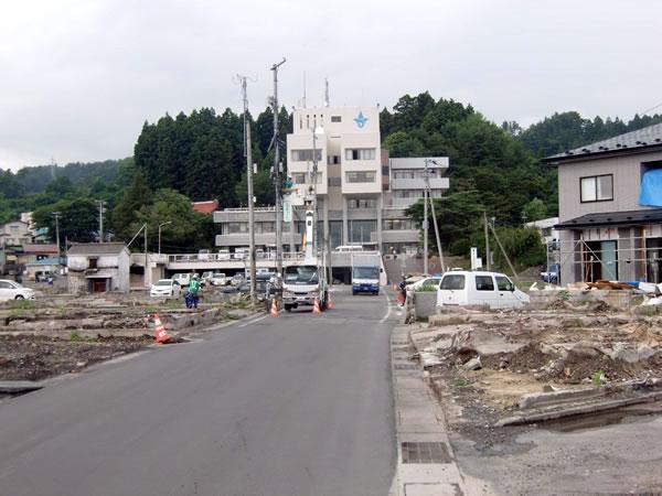 役場前通り(山田町八幡町)