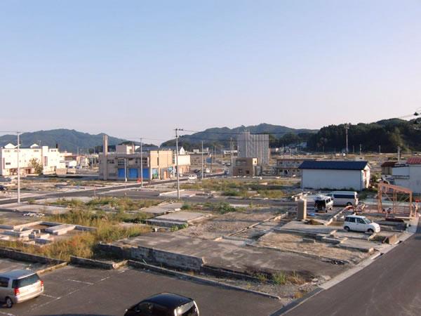 おぐら山から国道45号線方面(山田町中央町界隈)
