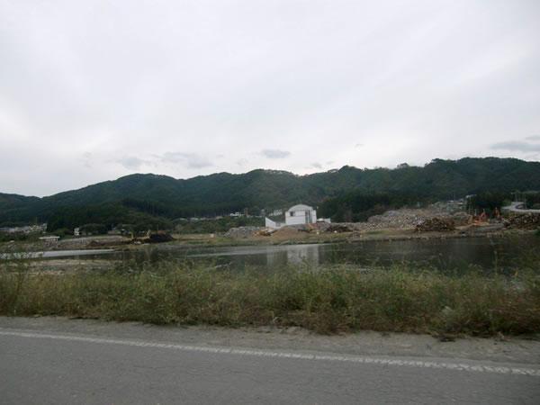 船越家族旅行村付近・さくら亭前(山田町船越)