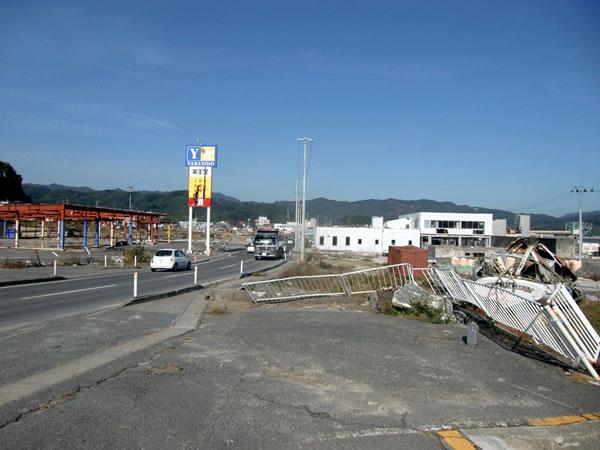 山田郵便局付近(山田町境田)
