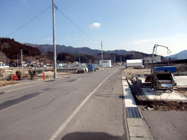 大沢漁協付近(山田町大沢)