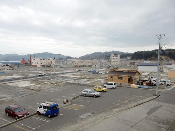 おぐら山から国45号線方面(山田町中央町界)