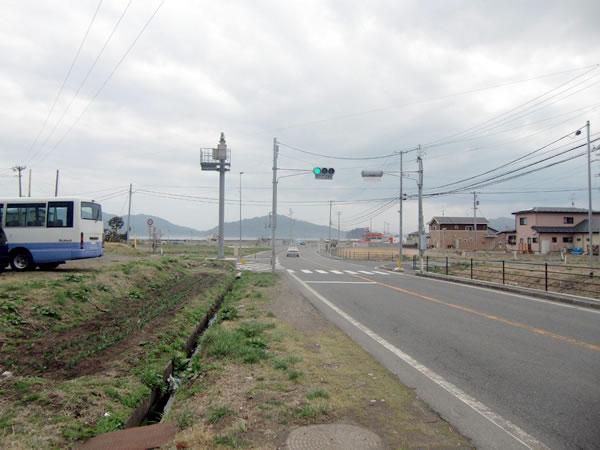 大沢小学校入り口(山田町大沢)