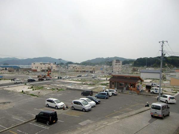 おぐら山から国道45号線方面(山田町中央町)