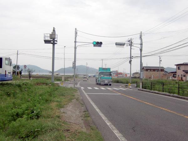 大沢小学校入り口付近(山田町大沢)