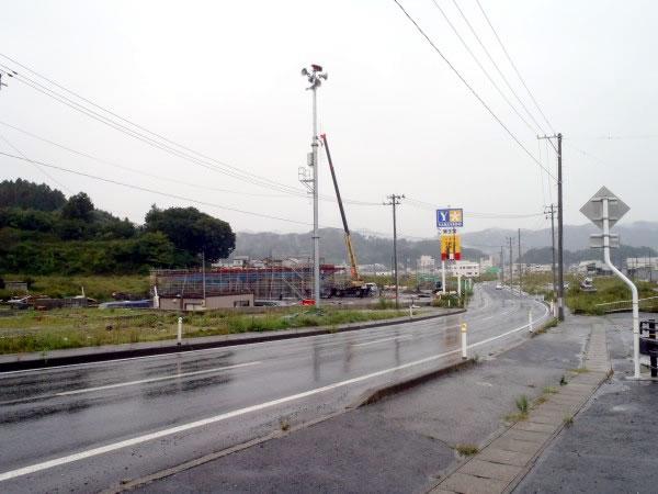 山田郵便局付近 山田境田