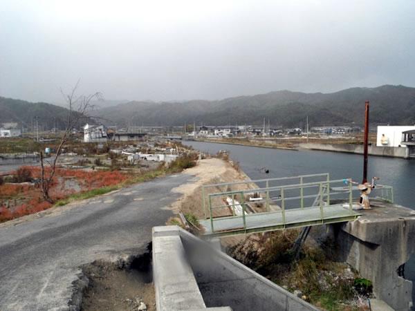 宝来橋より関口川付近