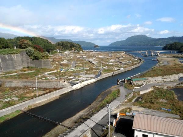 三陸道より織笠地区海側 11月2日撮影