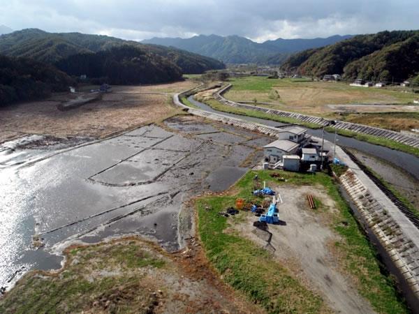 三陸道より織笠地区山側 11月2日撮影