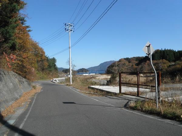 山田中学校登り口付近より