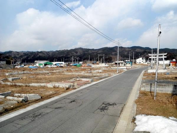 北浜~柳沢 NTT付近より(写真右側に大杉神社)