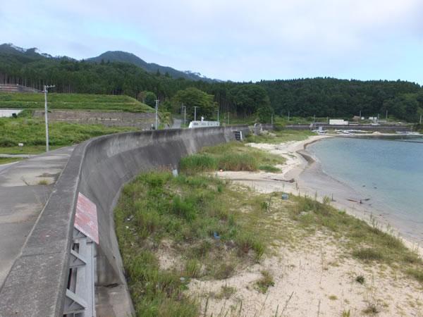 前須賀 堤防内側