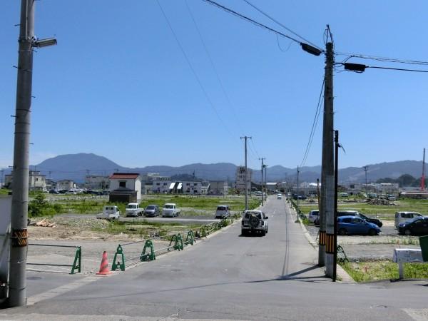 旧山田病院前から