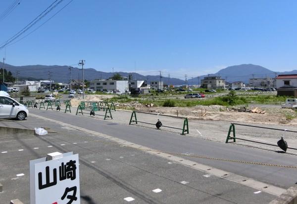 旧山田病院から役場方面