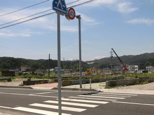 中央町靴のさいとう跡地から山田駅方面