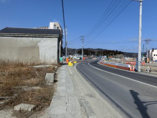 陸中山田駅入口より中央町方面