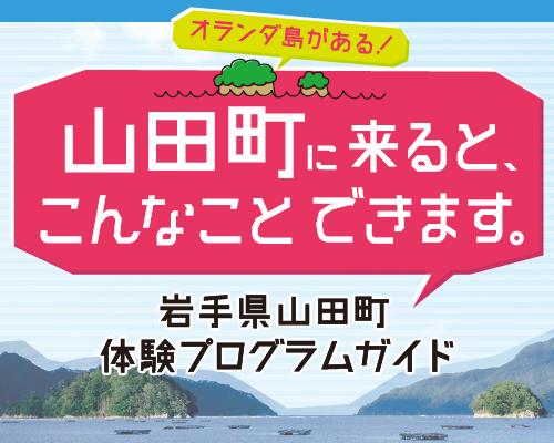 山田町に来るとこんな事ができます。