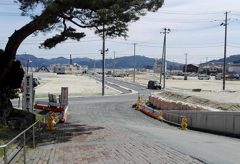 山田町役場前