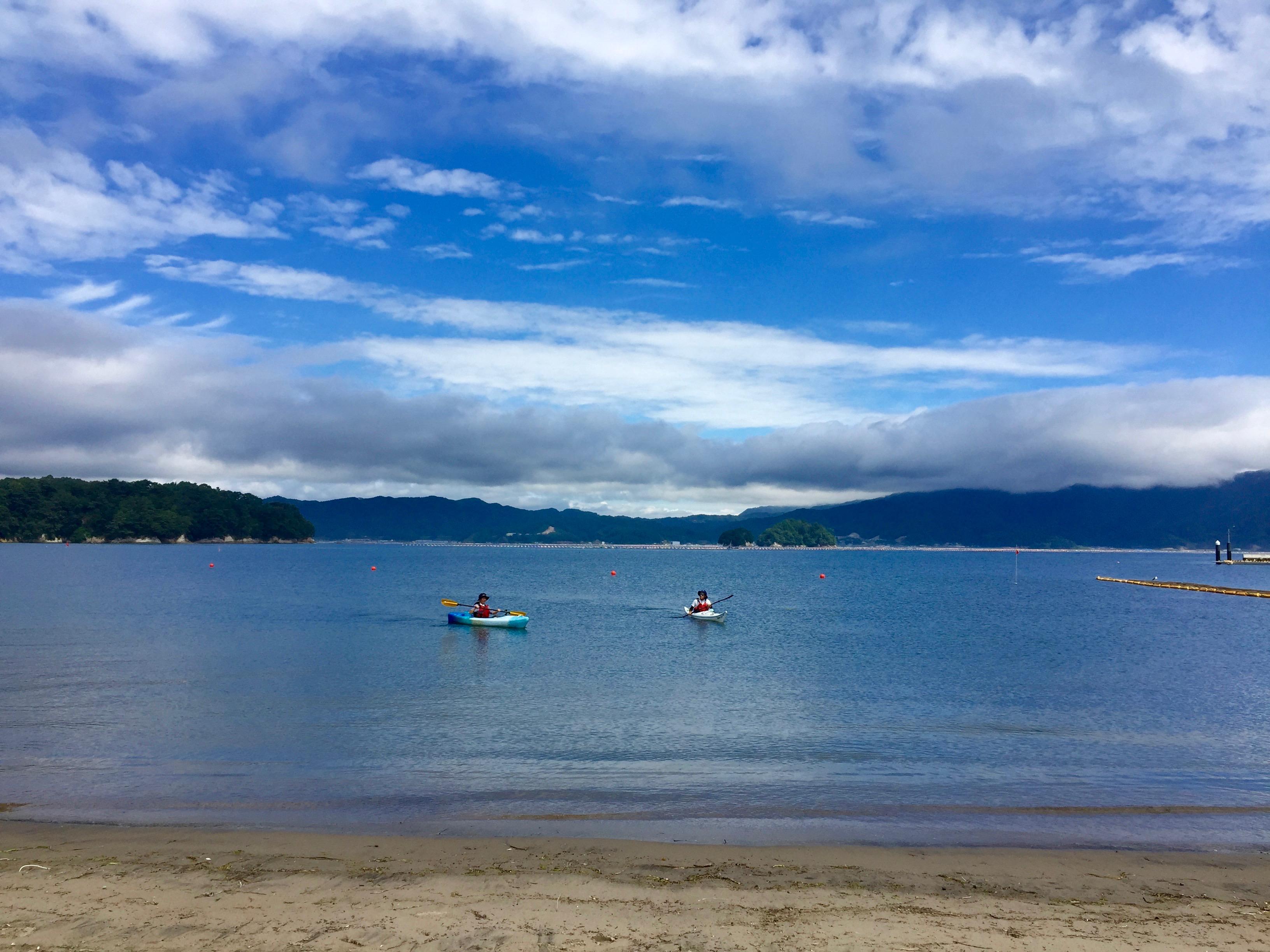 8月の4日間限定 山田湾で夏の思い出! シーカヤックで海上散歩体験